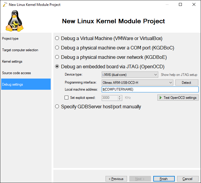 Debugging Linux Kernel on i MX6 with JTAG and Visual Studio
