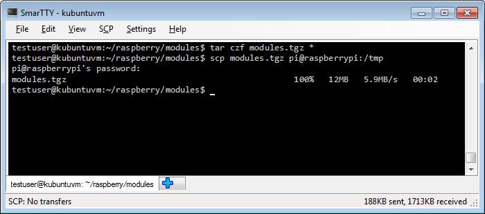 Raspberry pi download kernel modules