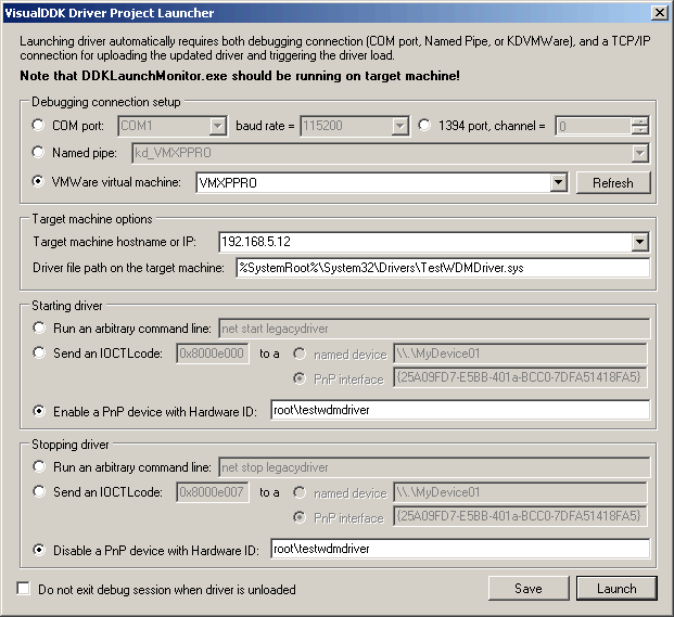 VisualDDK - Create and debug driver projects directly from