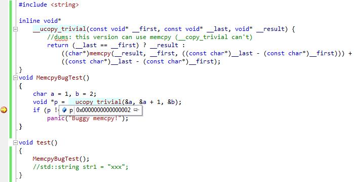 Beware: a bug in memcpy() in MacOS 10 7 Kernel   Sysprogs