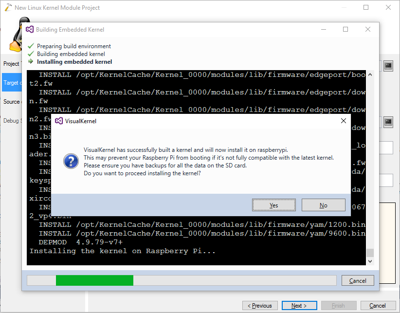 Debugging Raspberry PI kernel module with VisualKernel – Sysprogs