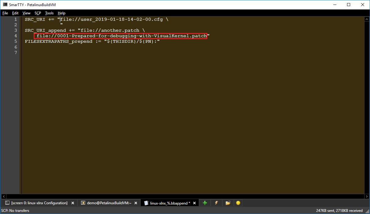 Preparing Petalinux Kernels for Debugging with VisualKernel
